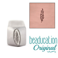 Beaducation Traditional Feather Medium Design Stamp 9mm