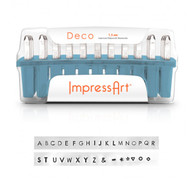 IMPRESSART - Deco Uppercase Metal Stamp Set  1.5mm