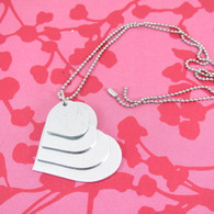 1.2mm Aluminium Heart Stacker Necklace Set