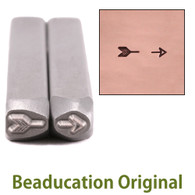 Beaducation Broken Arrow Design Stamp 4.5x2mm