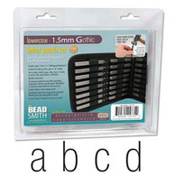Beadsmith - Gothic Lowercase Metal Stamp Set 1.5mm