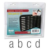 Beadsmith - Gothic Lowercase Metal Stamp Set 3mm
