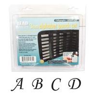 Beadsmith - Calligraphic Uppercase Metal Stamp Set 3mm