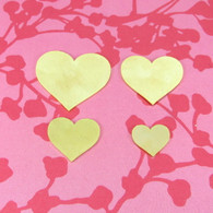 Brass Heart Stamping Tag Blank