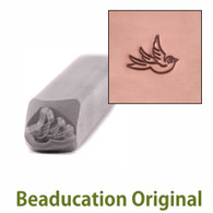 Beaducation Small Right Facing Swallow Design Stamp 5.5x4.5mm