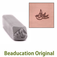 Beaducation Small Left Facing Swallow Design Stamp 5.5x4.5mm