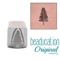 Beaducation Evergreen Tree Large Design Stamp 4x11mm
