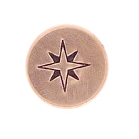 The Urban Beader - Compass Rose Design Stamp - 6mm