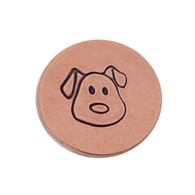 The Urban Beader - Dog Face Design Stamp - 5mm