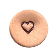 The Urban Beader - Heart Outline Design Stamp - 3mm