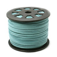 Faux Suede Cord 3x1.5mm - Mint