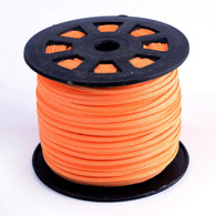 Faux Suede Cord 3x1.5mm - Orange