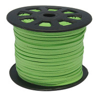 Faux Suede Cord 3x1.5mm - Lime