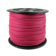 Faux Suede Cord 3x1.5mm - Fuchsia Pink
