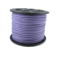 Faux Suede Cord 3x1.5mm - Lilac