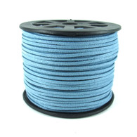 Faux Suede Cord 3x1.5mm - Sky Blue