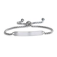 Stainless Steel ID Adjustable Bracelet