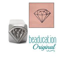 Beaducation Large Diamond Design Stamp 9mm