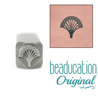 Beaducation Art Deco Fan Design Stamp 5mm