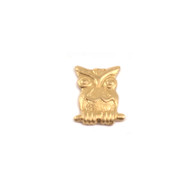 Brass Solderable Accent  - Owl 24g