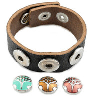 Little Chunks Real Leather Black Triple Chunk Complete Bracelet