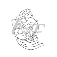 Mermaid Metal Design Stamp - 13mm