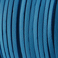 Faux Suede Leather Cord 3x1.5mm - Teal