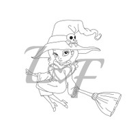 Witch Metal Design Stamp - 13mm