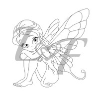 Fairy Metal Design Stamp - 13mm