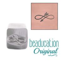 Beaducation Infinity Arrow Design Stamp 6x10mm