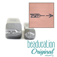 Beaducation Traditional Broken Arrow Design Stamp 15mm