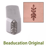 Beaducation Symmetrical Branch Border Metal Design Stamp 11.5x3.5mm