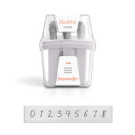 IMPRESSART - Charlotte Numbers Metal Stamp Set  3mm