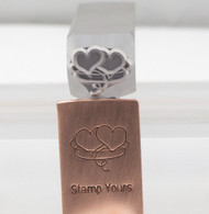 Intertwined Hearts Metal Design Stamp - 10x13.5mm