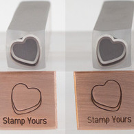 Candy Heart 3D Outline Metal Design Stamp - 10mm