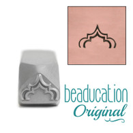 Beaducation Tall Moroccan Arch Metal Design Stamp 11x7mm