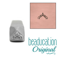 Beaducation Tall Moroccan Arch Metal Design Stamp 6x4mm