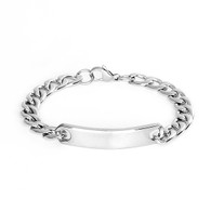 Stainless Steel Mens ID Chain Bracelet