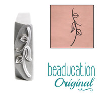 Beaducation Stem with Leaves Design Stamp 16mm