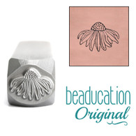 Beaducation Echinacea Flower Design Stamp 10.5x8.3mm