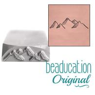 Beaducation Mountain Range Design Stamp 17mm