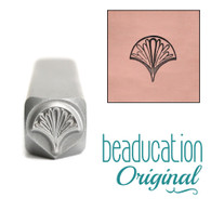 Beaducation Whimsical Fan Design Stamp 7mm