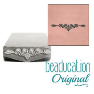 Beaducation Scroll Border Design Stamp 16mm