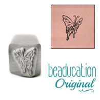 Beaducation Side View Butterfly Metal Design Stamp - 9.5mm
