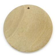 Round Natural Wood Charm Pendant 3cm Dia