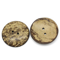 Large Real Coconut 2 Hole Button 5cm
