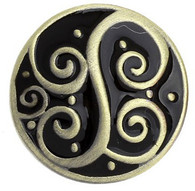 Little Chunks Bronze Metal Spiral Chunk with Black Enamel