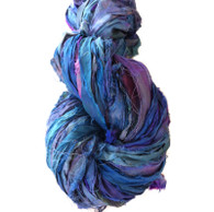 Silk Sari Ribbon Fair Trade - Blue