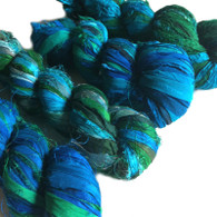 Silk Sari Ribbon Fair Trade - Sea Green