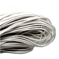 White Round Waxed Jewellery Cord 2mm